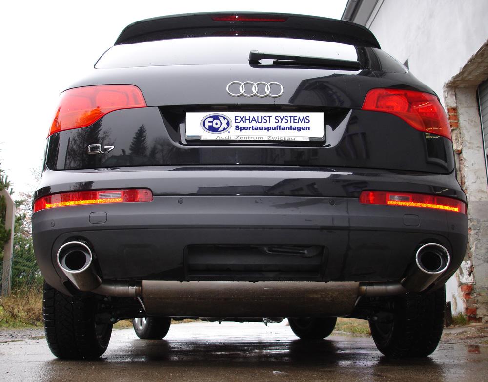 Fox Duplex Auspuff Sportauspuff Komplettanlage Audi Q7 3,0l TFSI 200/206/245kW