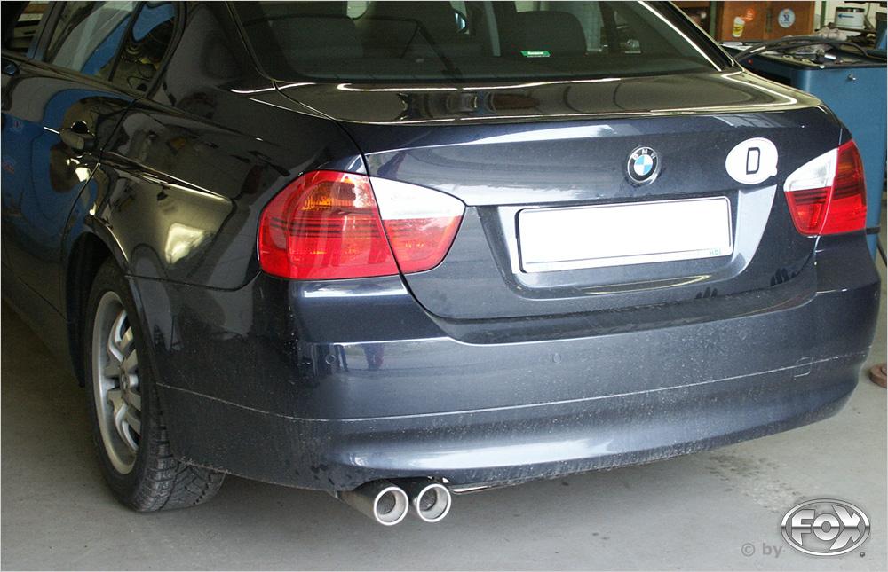 Fox Auspuff Sportauspuff Sportendschalldämpfer BMW E90 318i/ 320i 2,0l 95/110kW