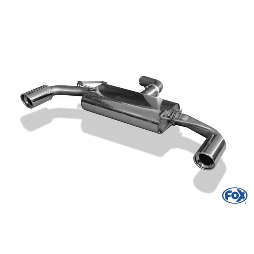 Fox Duplex Auspuff Sportauspuff Sportendschalldämpfer VW Golf VI 1,2l 63/77kW