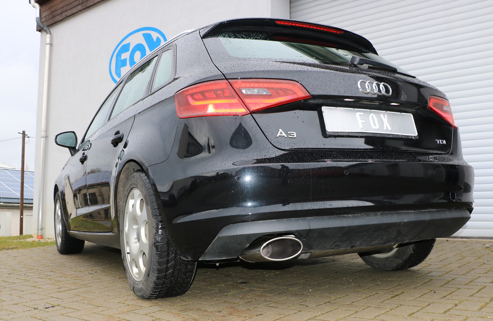 Fox Auspuff Sportauspuff Sportendschalldämpfer Audi A3 8V Sportback 1.4 TFSI