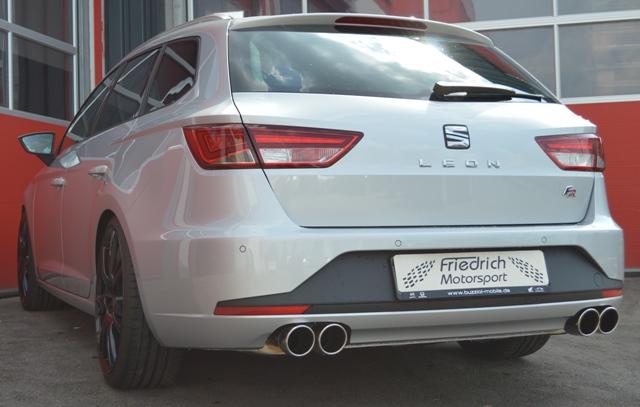 Friedrich Motorsport Gruppe A Sportauspuff Seat Leon 5F ST inkl. FR ab Bj. 2013