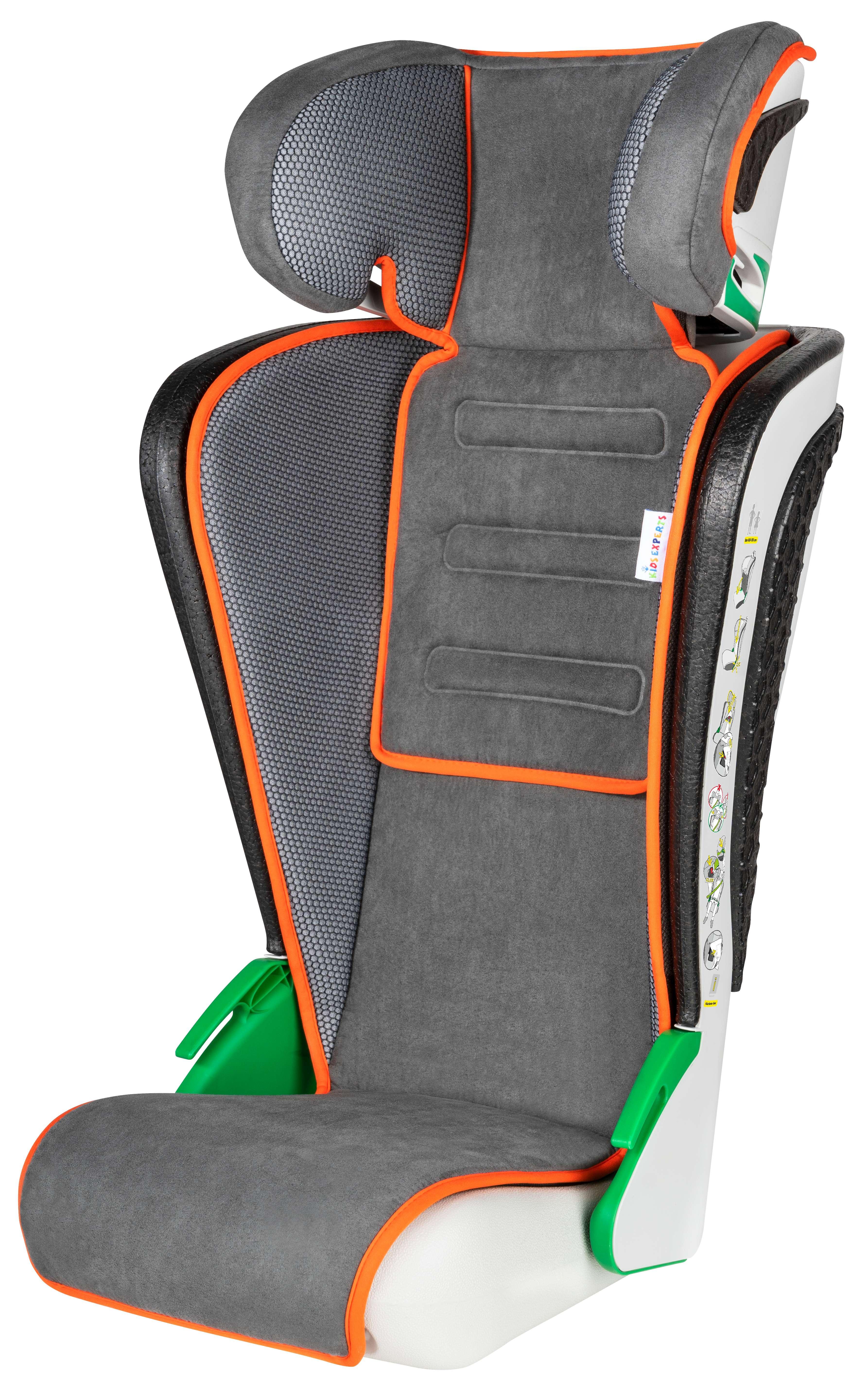Autokindersitz Autositz Kinderautositz 3-8 Jahren 100-135cm anthrazit orange