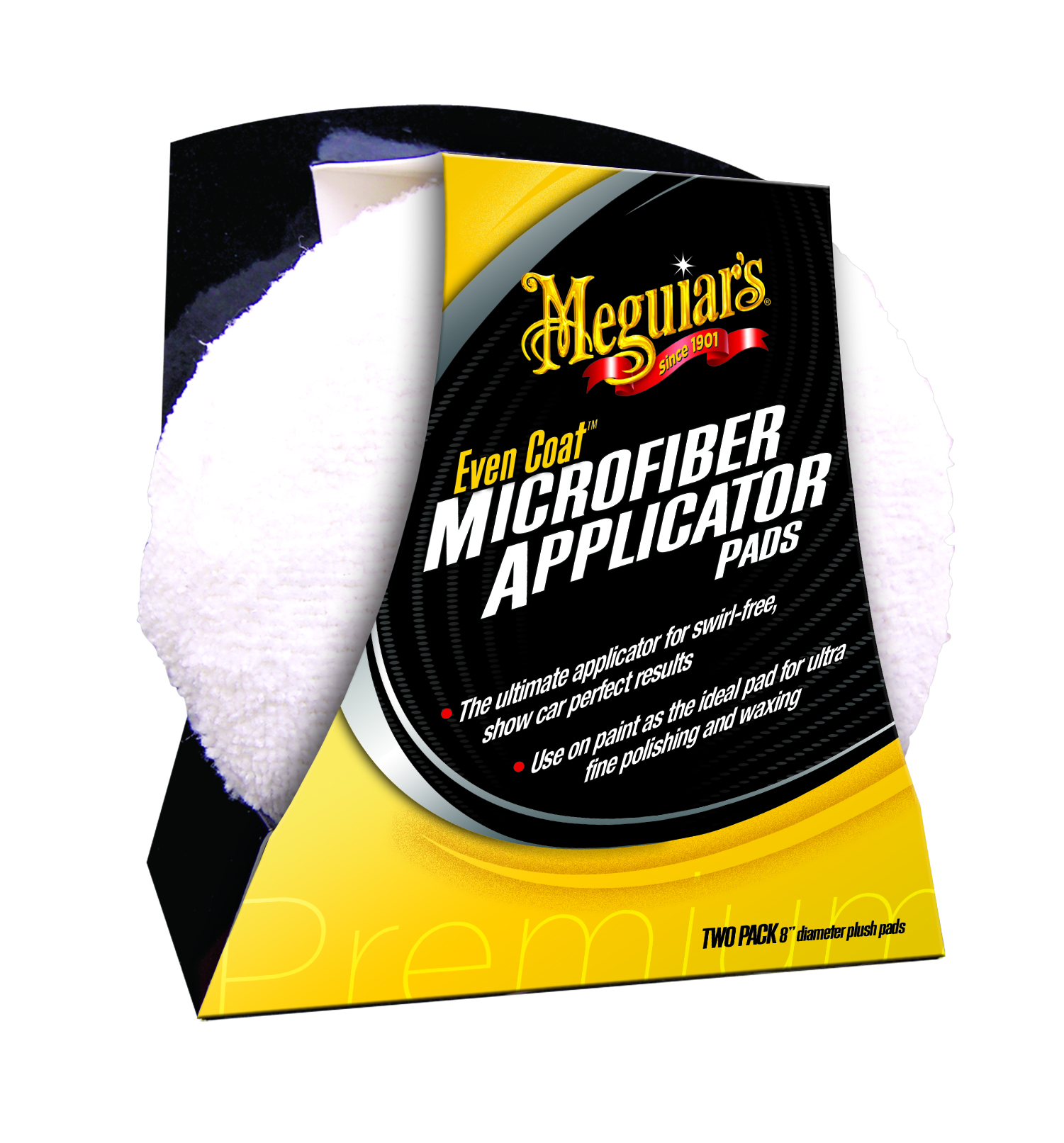Meguiars Even Coat Microfiber Applicator 2er pack Mirkofaser Auftragsschwamm