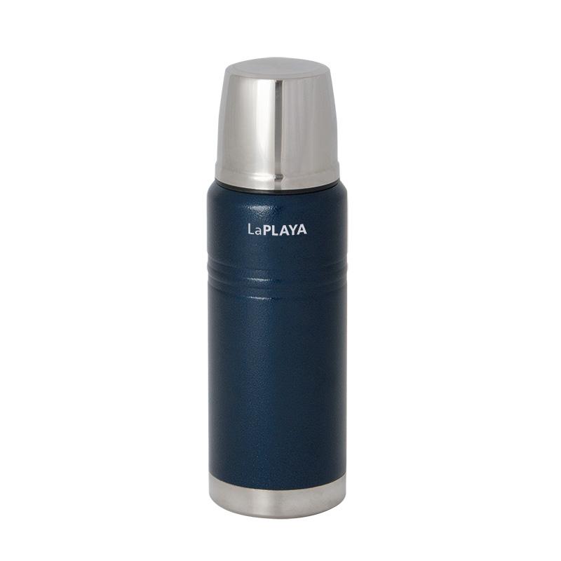 Thermosflasche Thermoskanne Isolierflasche Isolierkanne Isoflasche 0,75l blau