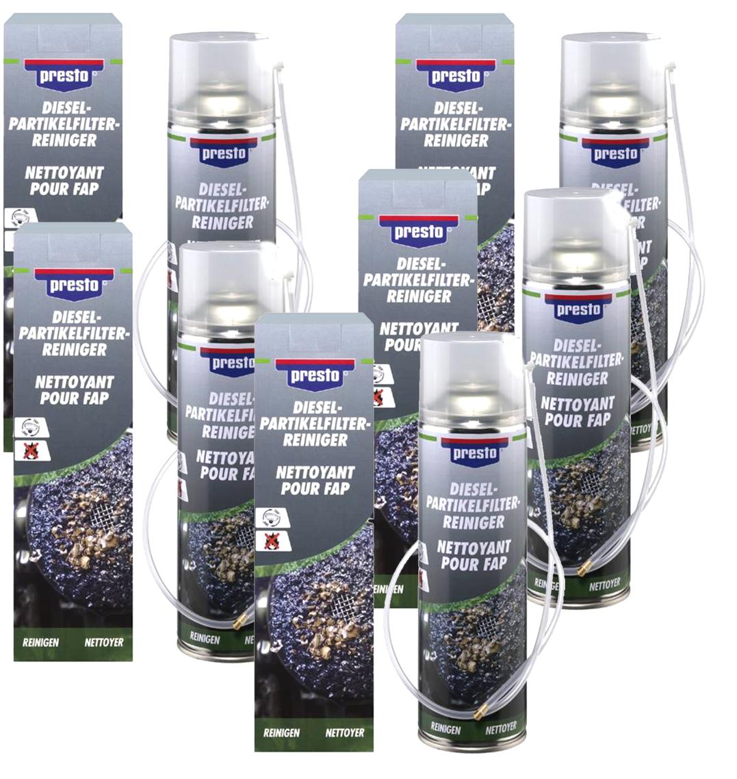 5x Presto Dieselpartikelfilter Reiniger DPF Reiniger mit Sonde 400 ml Rußfilter