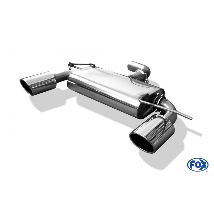 Fox Auspuff Duplex Sportauspuff Komplettanlage Audi A3 8P Sportback 1.4 92kW
