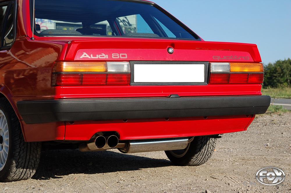 Fox Auspuff Sportauspuff Komplettanlage Audi 80/90 quattro 81 Facelift 1,8l