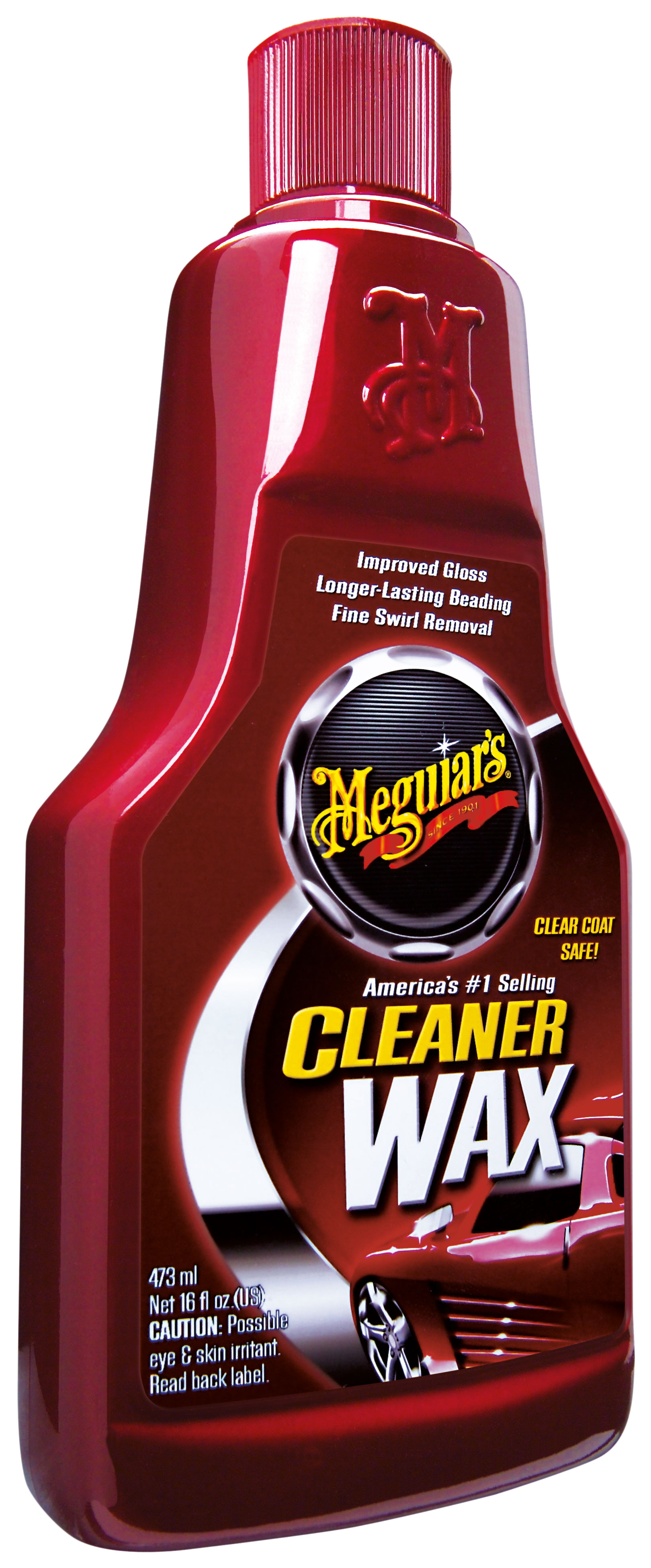 Meguiars Cleaner Wax Wachs Autowachs und Lackreiniger Liquid A1216EU 473ml