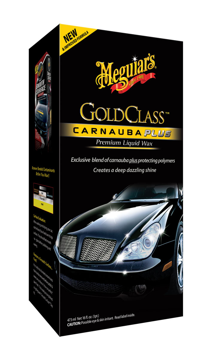 Meguiars Gold Class Carnauba Plus Premium Wax Liquid Autowachs G7016EU 473ml