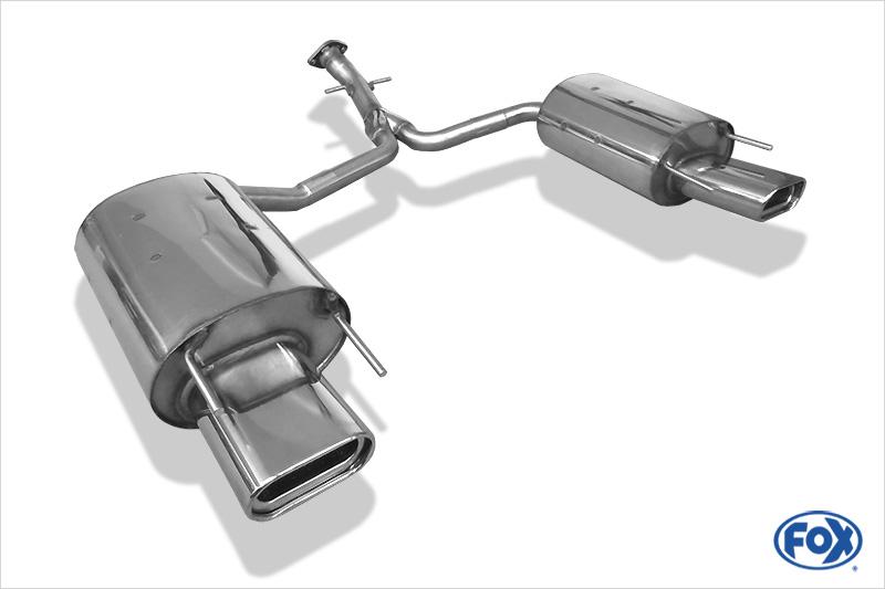 Fox Duplex Auspuff Sportauspuff Endschalldämpfer Lexus IS 220 Diesel 2,2l 130kW