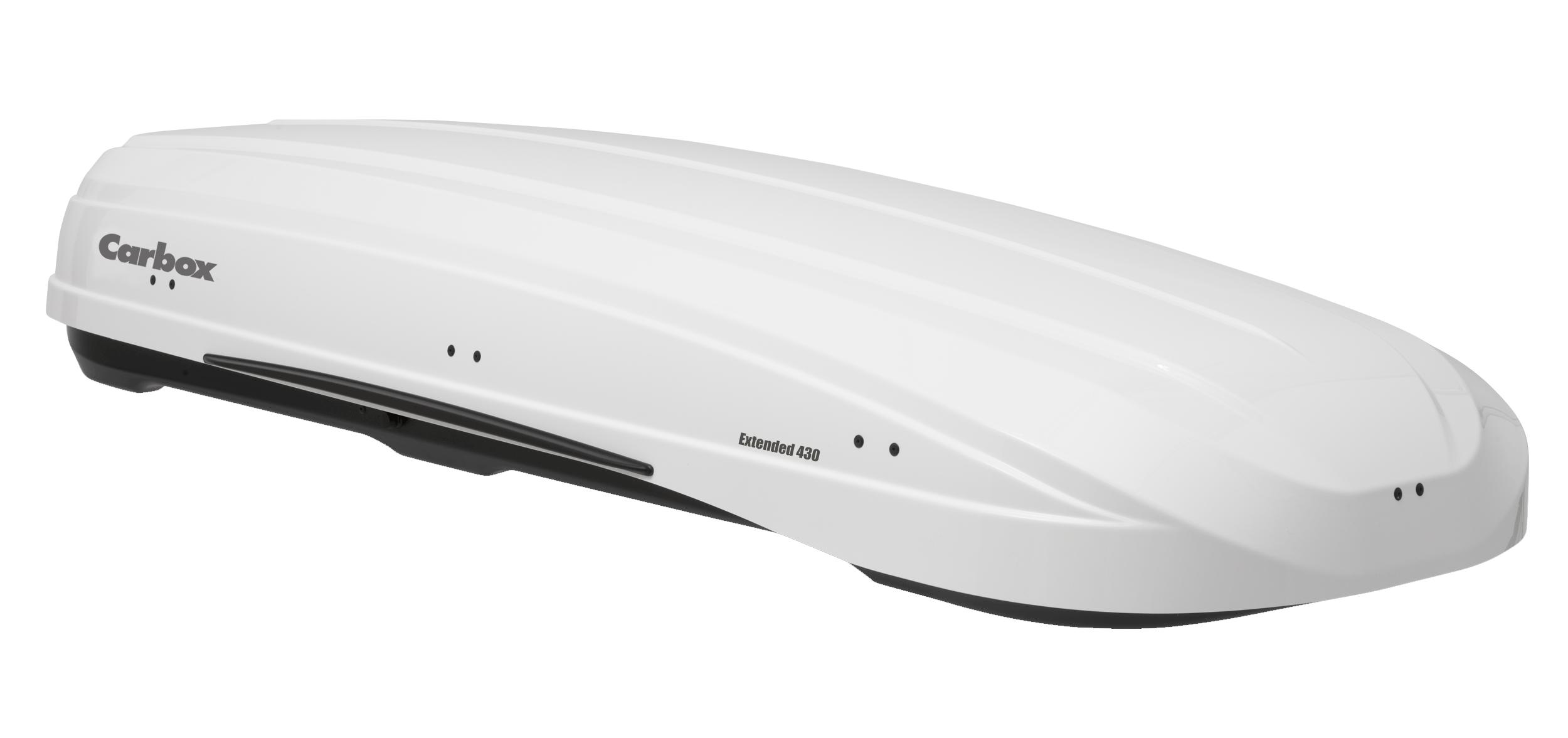 Carbox Dachbox Gepäckbox H20 hochglanzweiß mit Befestigung QG2.0