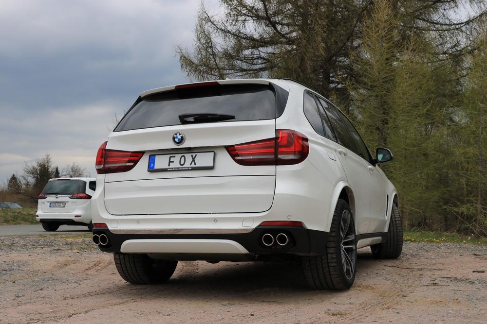 Fox Duplex Auspuff Sportauspuff Sportendschalldämpfer BMW X5 F15 4,4l 330kW