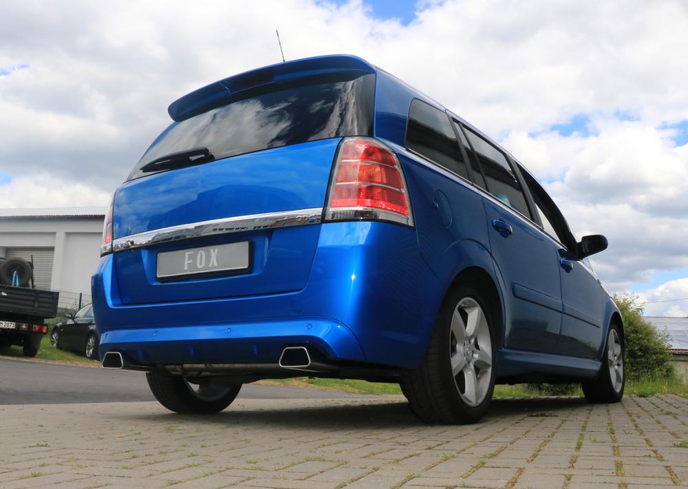 Fox Duplex Auspuff Sportauspuff Komplettanlage Opel Zafira B OPC 2,0l 125/147kW