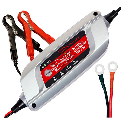 Dino KRAFTPAKET Batterieladegerät 12V 5A PKW Auto Motorrad Batterie Ladegerät