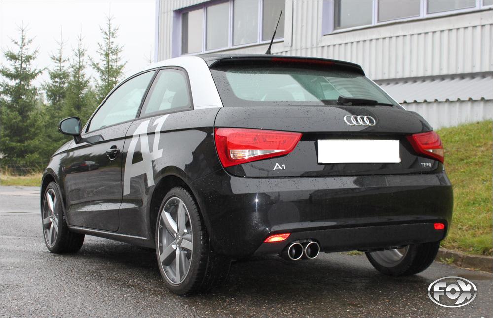 Fox Auspuff Sportauspuff Komplettanlage Audi A1 1,2 63kW 1,6l D 77kW
