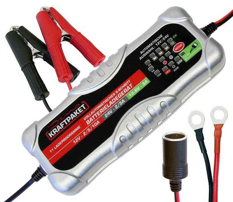 Dino KRAFTPAKET 136302 Auto Ladegerät Batterieladegerät 12V 24V 10A Auto LKW