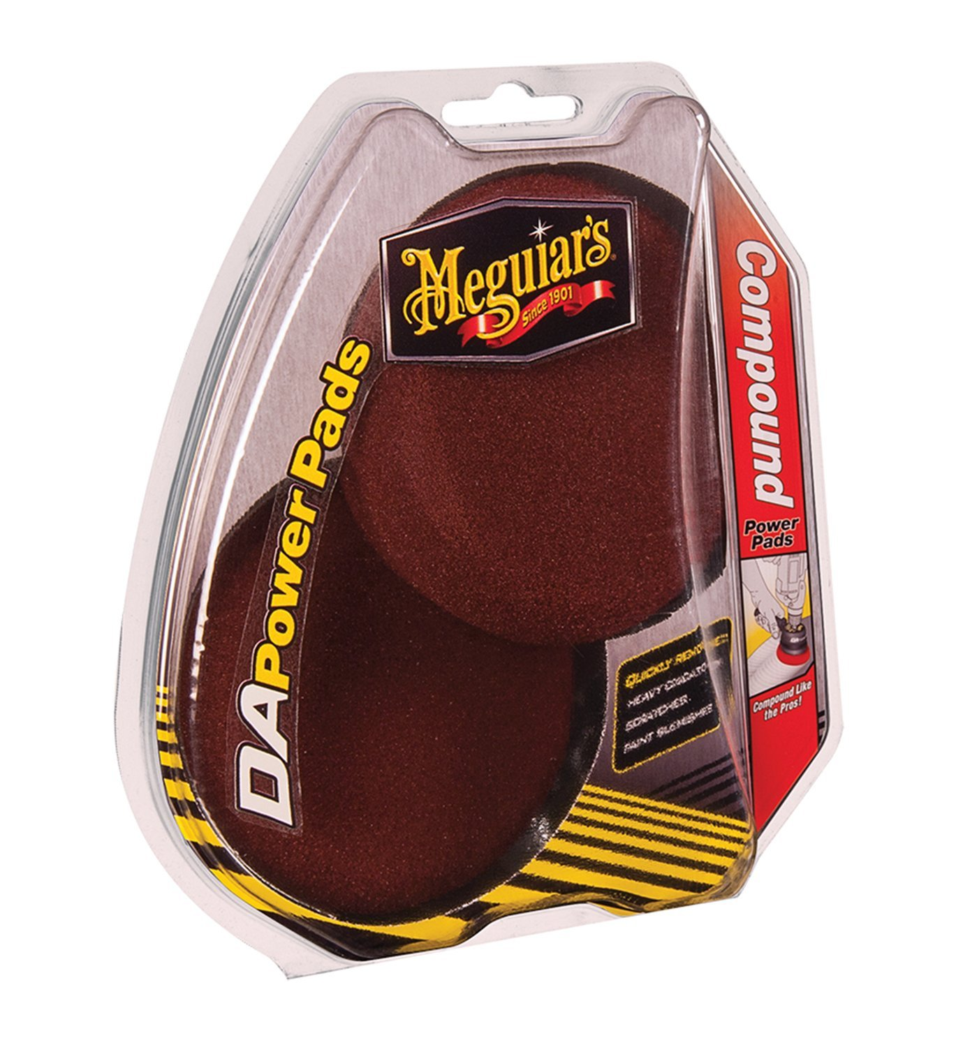 Meguiars DA Power Pads Compound Polierpad Aufbereitung Politur 2 Stk G3507INT