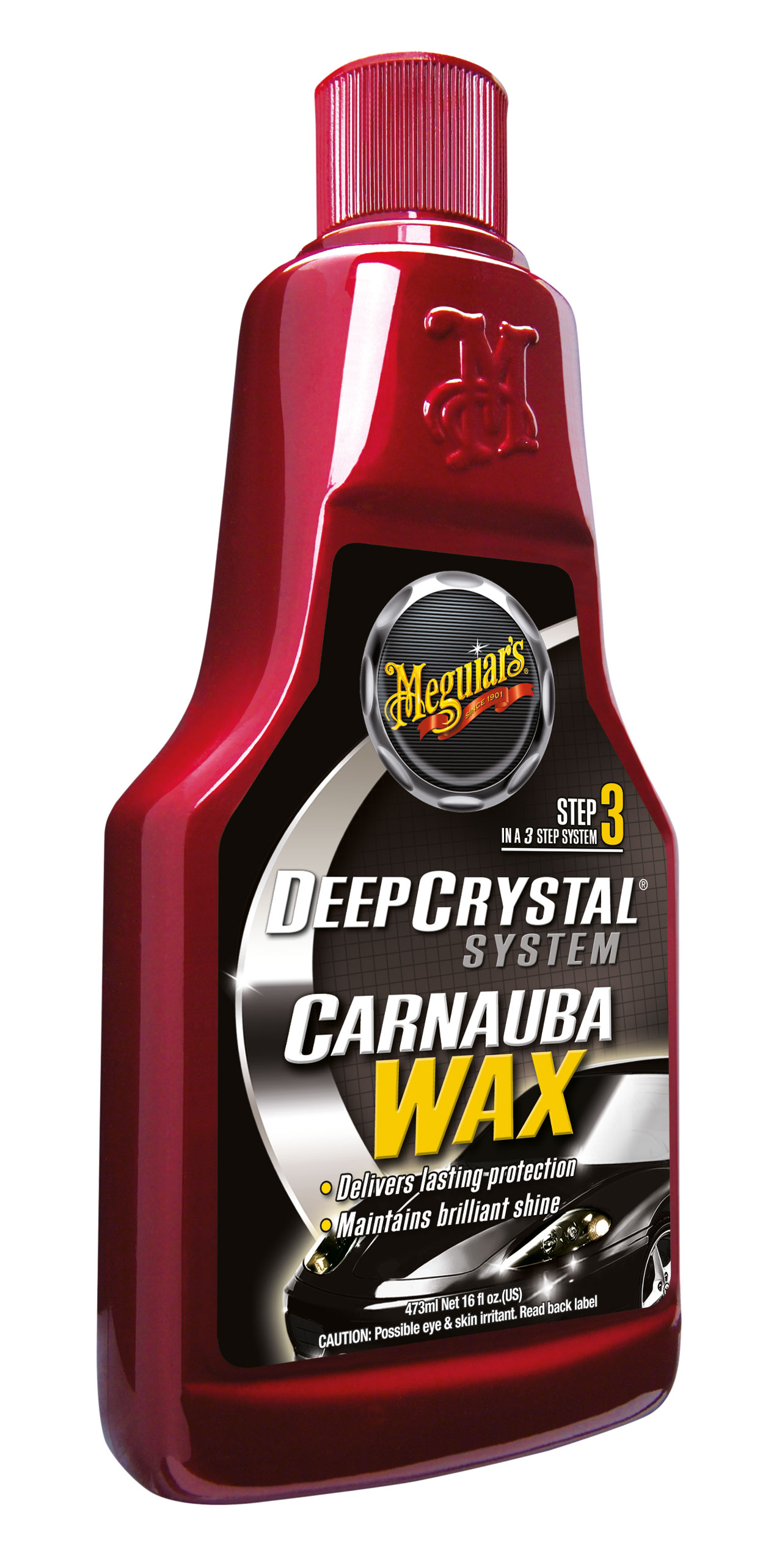 Meguiars Deep Crystal Wax Wachs mit Carnauba optimales Autowachs A2216EU 473ml