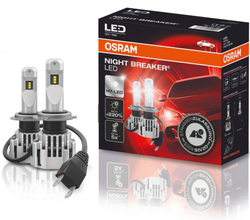 H7 LED Osram Night Breaker Led Profi-Set Auto Lampe Birne 12V 19W 64210DWNB