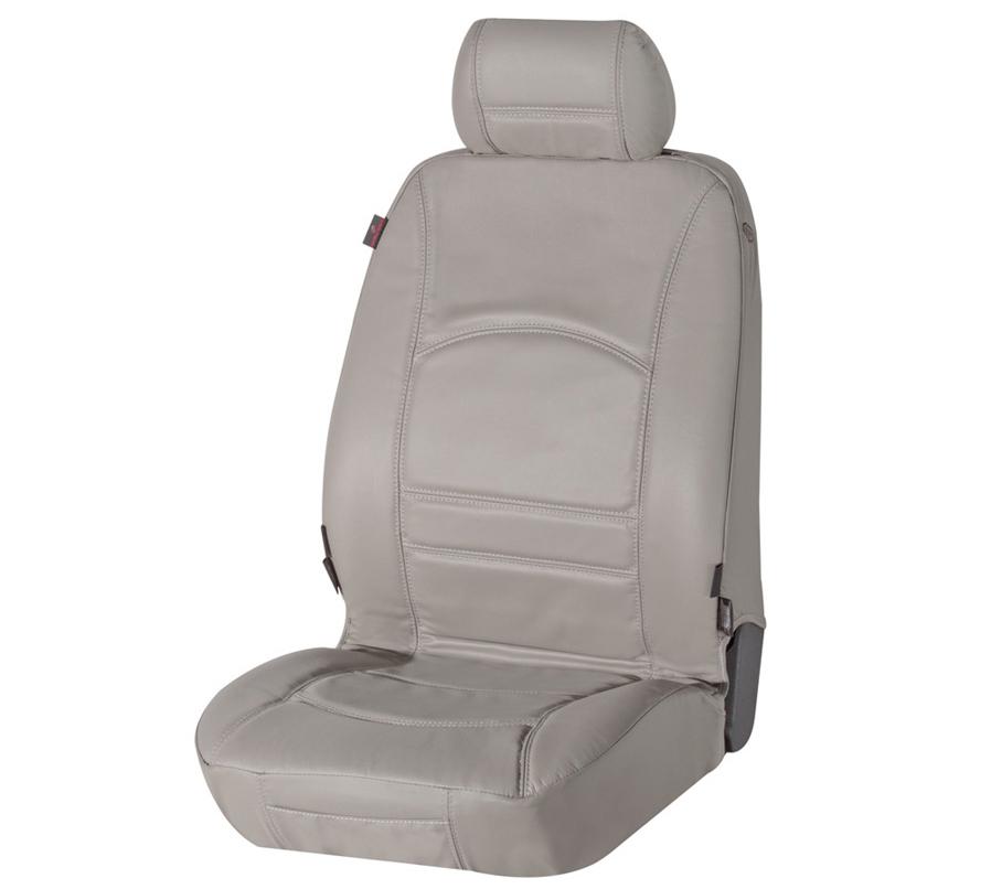 Sitzbezug Sitzbezüge Ranger aus echtem Leder grau Fiat 500