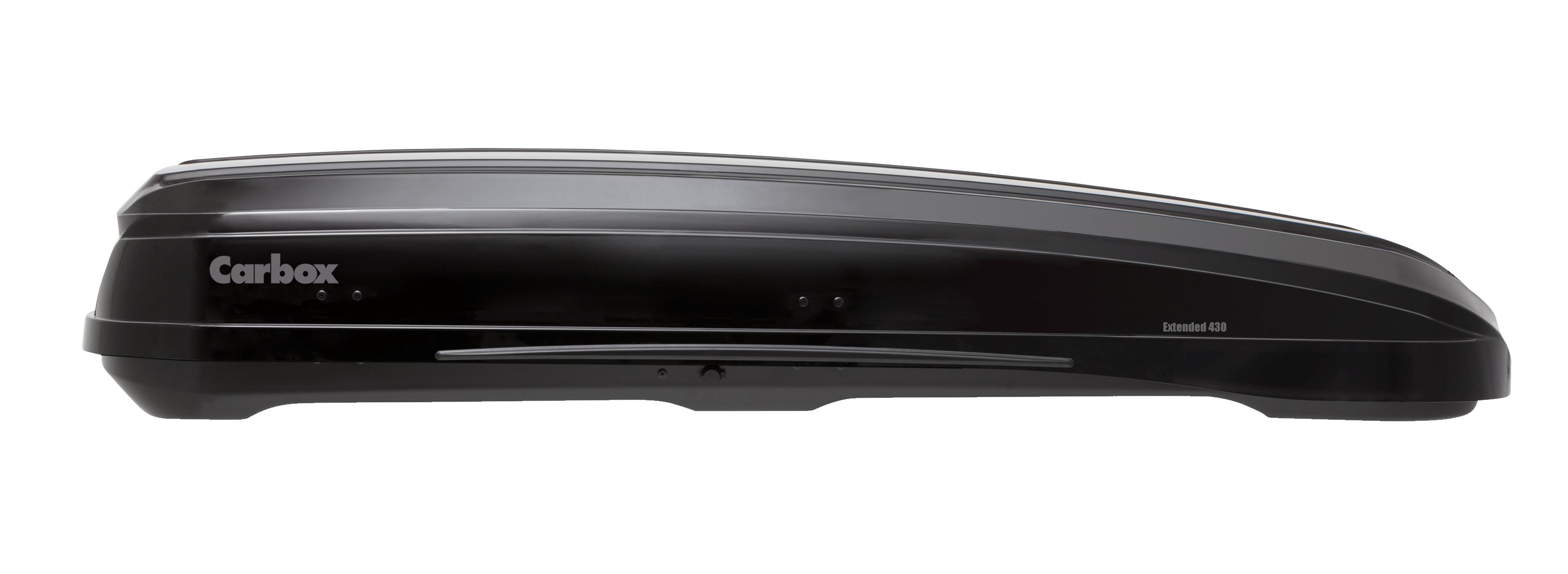 Carbox Dachbox Gepäckbox H20 hochglanzschwarz mit Befestigung QG2.0