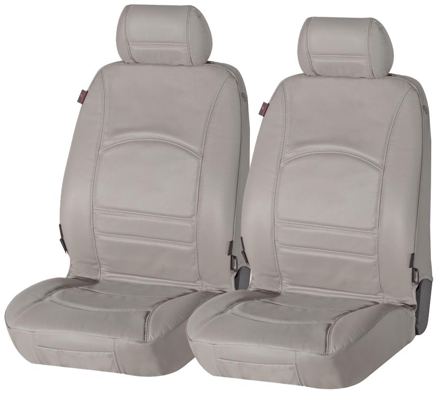Sitzbezug Sitzbezüge Ranger aus echtem Leder grau Seat Alhambra