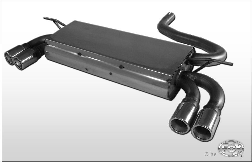 Fox Duplex Auspuff Sportauspuff Endschalldämpfer Mini One/Cooper R50 1,6l 85kW