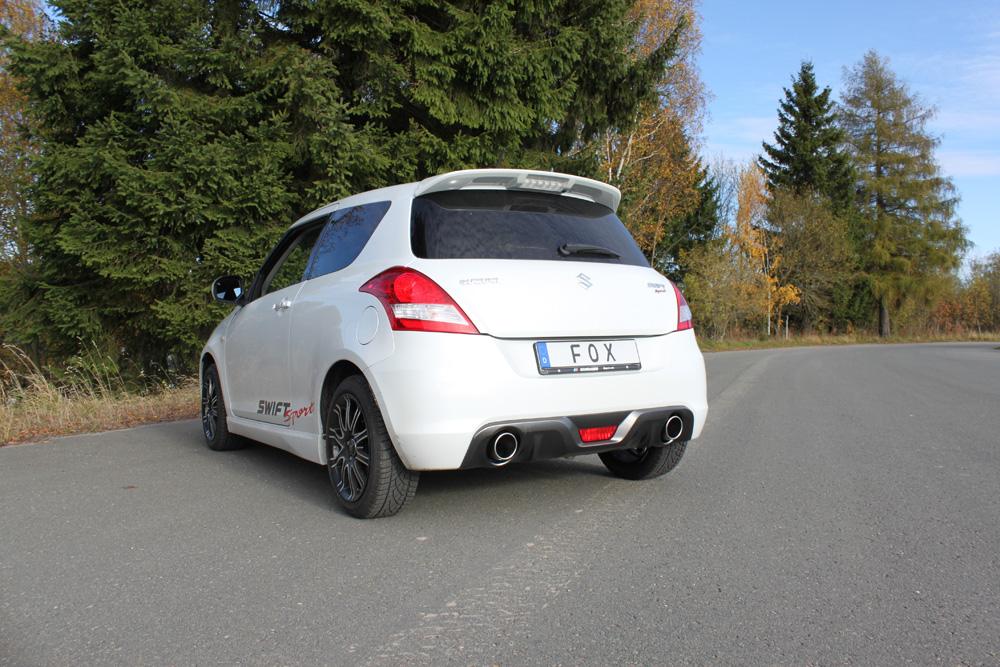 Fox Duplex Auspuff Sportauspuff Suzuki Swift Sport IV 1,6l 100kW