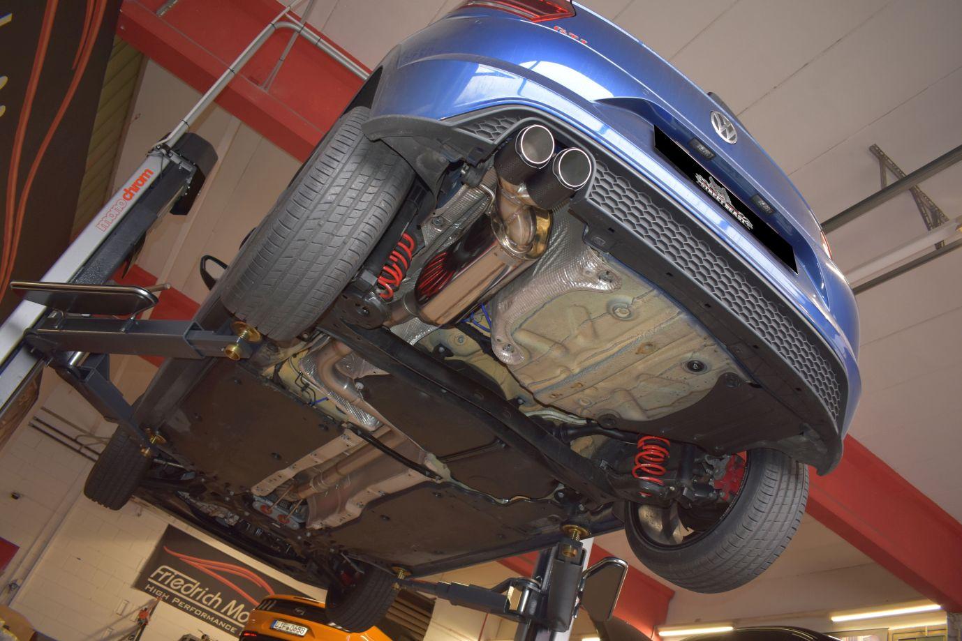 Streetbeast 70mm Sportauspuff Single-Anlage mit Klappensteuerung VW Polo AW GTI