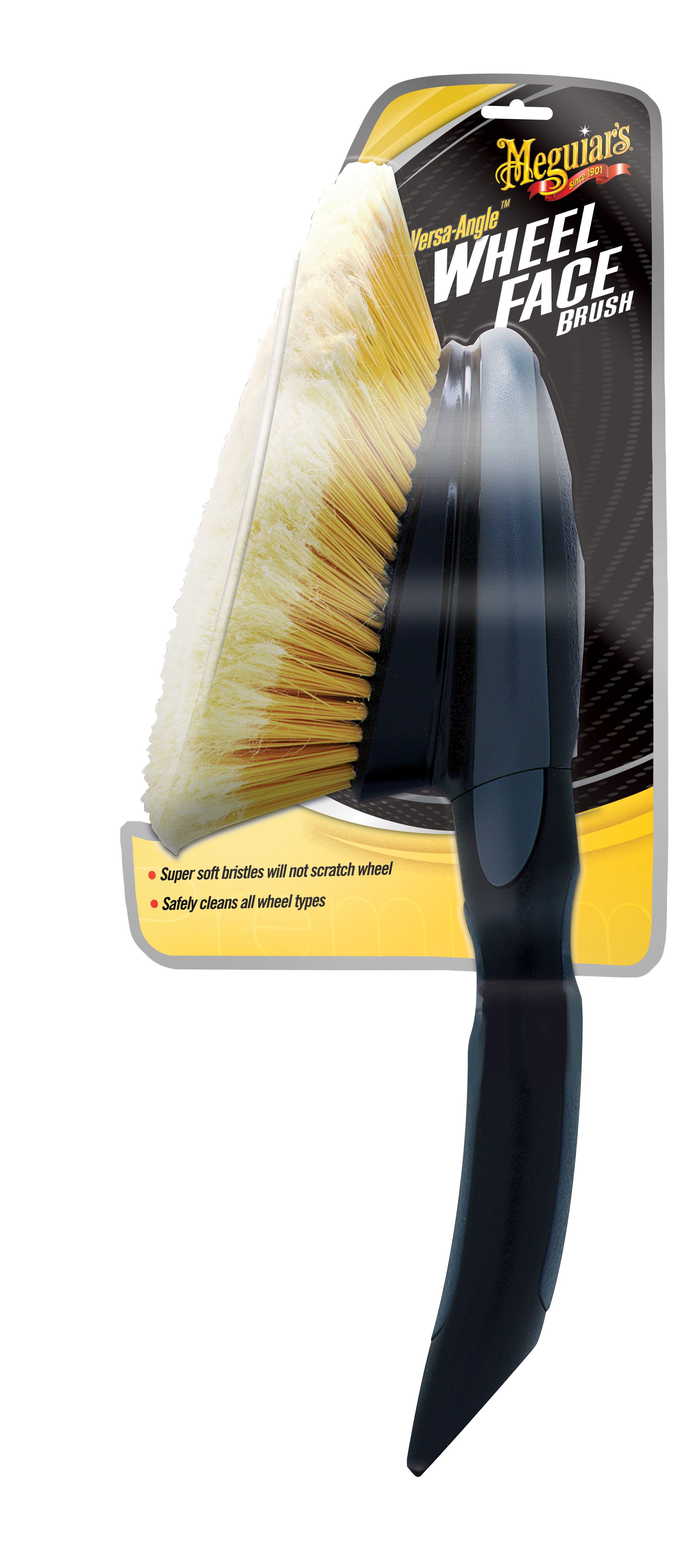 Meguiars Felgenbürste Autowäsche Versa Angle Wheel Face Brush Bürste X1025EU