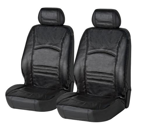 Sitzbezug Sitzbezüge Ranger aus echtem Leder schwarz Fiat 500
