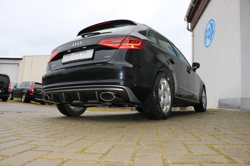 Fox Auspuff Duplex Sportauspuff Sportendschalldämpfer Audi A3 8V Sportback 1.4